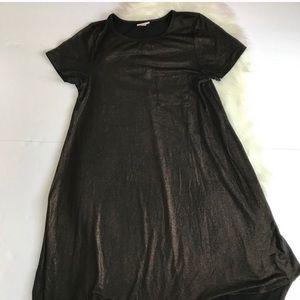 LuLaRoe Elegant Gold Sparkle Carly Dress